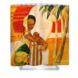 Heartbeat Shower Curtain by Marilyn Jacobson