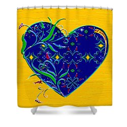 Heartbloom Shower Curtain by RC deWinter