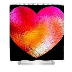 Heartline 6 Shower Curtain by Will Borden