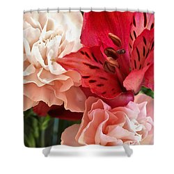 Heart's A Flutter Shower Curtain by Julie Andel