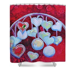 Hearts Don't Grow On Trees Shower Curtain