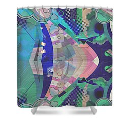 Hearts Gone Wild Shower Curtain by Liane Wright