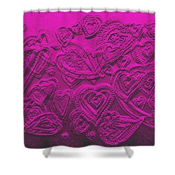 Hearts Of Love Shower Curtain