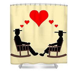Hearts Rock Shower Curtain