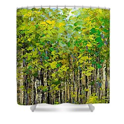Shower Curtain featuring the painting Heat Of Summer by Tatiana Iliina