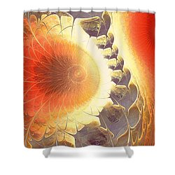 Heat Shield Shower Curtain by Anastasiya Malakhova