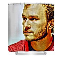 Heath Ledger Portrait Shower Curtain by Florian Rodarte
