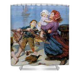 Heave Ho Shower Curtain by Arthur John Elsley