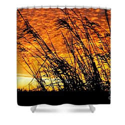 Sunset Heaven And Hell In Beaumont Texas Shower Curtain