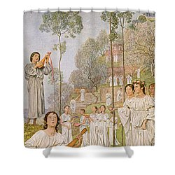 Heaven Shower Curtain by Hans Thoma