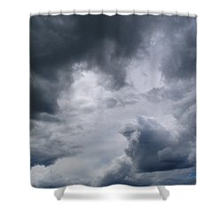 Heaven Looks Angry Shower Curtain