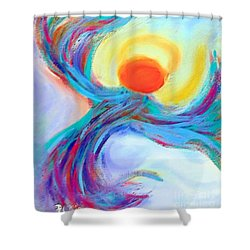 Heaven Sent Digital Art Painting Shower Curtain by Robyn King