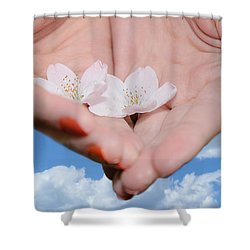 Heavenly Blossoms Shower Curtain by Lisa Knechtel