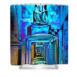 Heavenly Blues Shower Curtain by William Beuther
