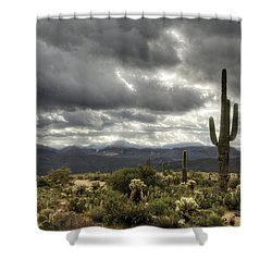 Heavenly Desert Skies  Shower Curtain by Saija  Lehtonen