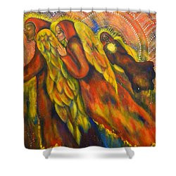 Heavenly Messengers Shower Curtain