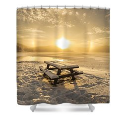 Shower Curtain featuring the photograph Heavenly Sleep by Rose-Maries Pictures