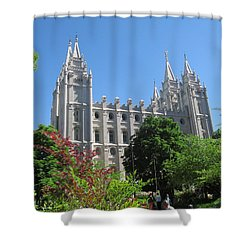 Heavenly Spires Shower Curtain