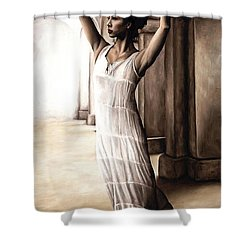 Heaven's Angel Shower Curtain by Richard Young