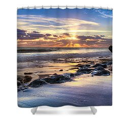 Heaven's Lights Shower Curtain by Debra and Dave Vanderlaan
