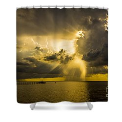 Heavens Window Shower Curtain by Marvin Spates