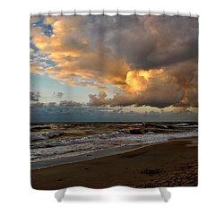 Heavy Clouds Over Baltic Sea Shower Curtain