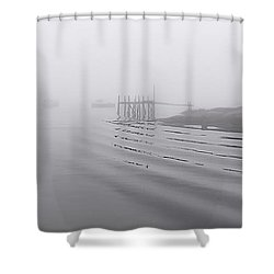 Heavy Fog And Gentle Ripples Shower Curtain