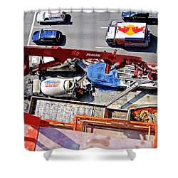 Heavy Lifting Pumper Shower Curtain