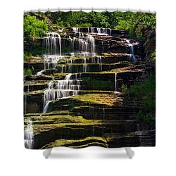 Shower Curtain featuring the photograph Hector Falls by Dave Files