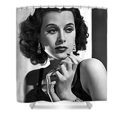 Hedy Lamarr - Beauty And Brains Shower Curtain by Daniel Hagerman