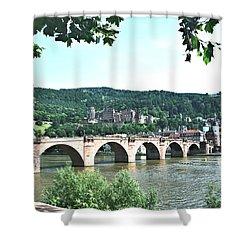 Heidelberg Schloss Overlooking The Neckar Shower Curtain