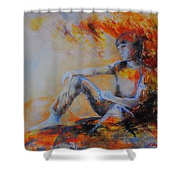 Heimatlos Shower Curtain by Francoise Dugourd-Caput