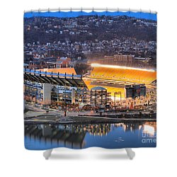 Heinz Field At Night Shower Curtain