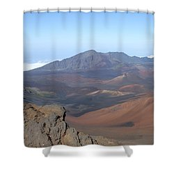 Shower Curtain featuring the photograph Heleakala Volcano In Maui by Richard Reeve