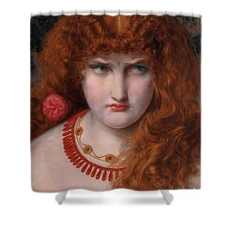 Helen Of Troy Shower Curtain by Anthony Frederick Augustus Sandys