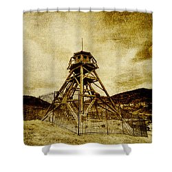 Helena-montana-fire Tower Shower Curtain