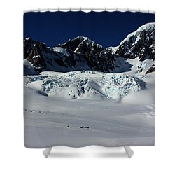 Shower Curtain featuring the photograph Helicopter New Zealand  by Amanda Stadther