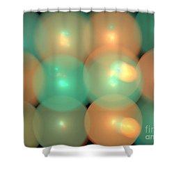 Helium Shower Curtain by Kim Sy Ok