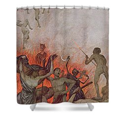Hell Shower Curtain by Hans Thoma