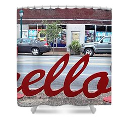 Hello Shower Curtain by Kelly Awad