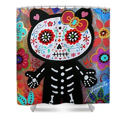 Hello Kitty Dia De Los Muertos Shower Curtain