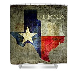 Hello Texas Shower Curtain by Daniel Hagerman