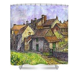 Helmsley Village -  In Yorkshire England  Shower Curtain by Carol Wisniewski