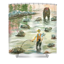 Help Is On The Way Shower Curtain