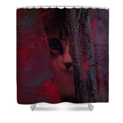 Shower Curtain featuring the photograph Helping In The Art Studio by Jacqueline McReynolds