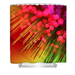 Helter Skelter Shower Curtain by Dazzle Zazz