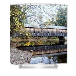 Hemlock Covered Bridge Shower Curtain by Catherine Gagne