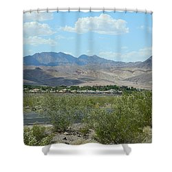 Shower Curtain featuring the photograph Henderson Nevada Desert by Emmy Marie Vickers