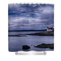 Hendricks Head Light Shower Curtain by Jeff Folger