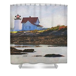 Hendricks Head Lighthouse - Maine Shower Curtain